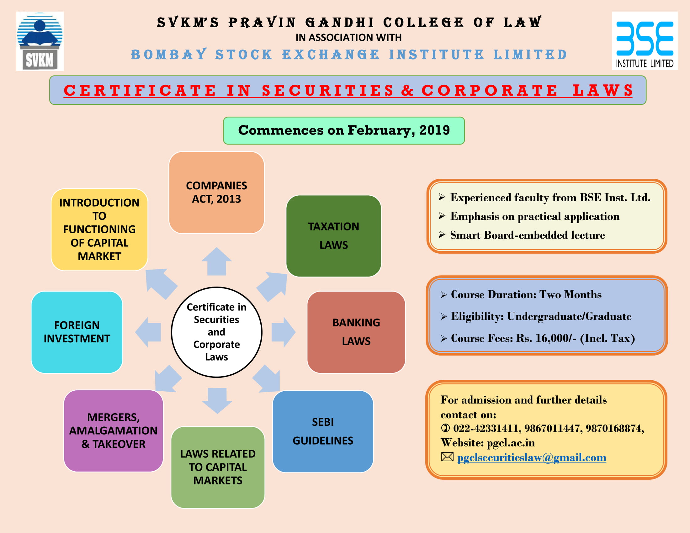 Certificate Course in Securities and Corporate Law
